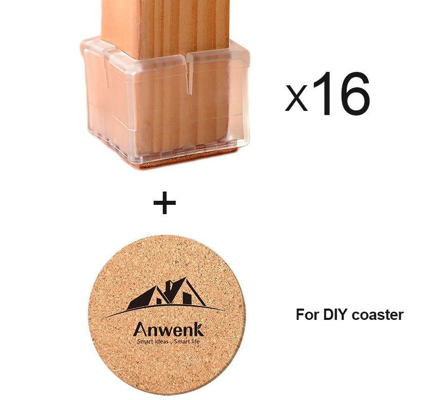 5b2f4efd854 Anwenk Chair Leg Protectors (16 Pack) - Anwenk